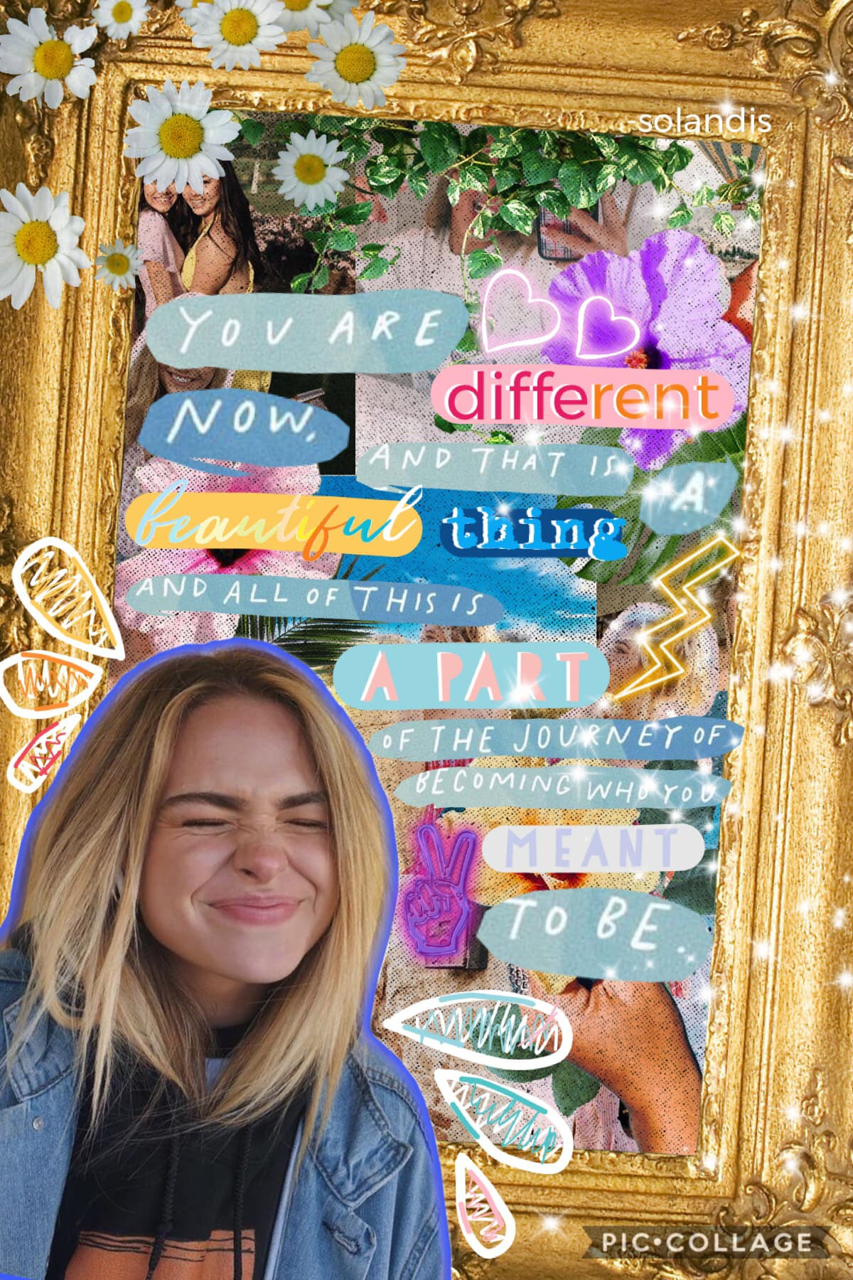 "💙🍃⚡️Tappy⚡️🍃💙 4.22.19.  Yay ☀️ I'm officially back from my Lenten Break 🌻 My next few collages my be a lil' bad because I still need to get my ""rhythm"" back 😂 I hope you like this one tho 💙 QOTD: 🌻 or 🌷 AOTD: at the moment 🌻"