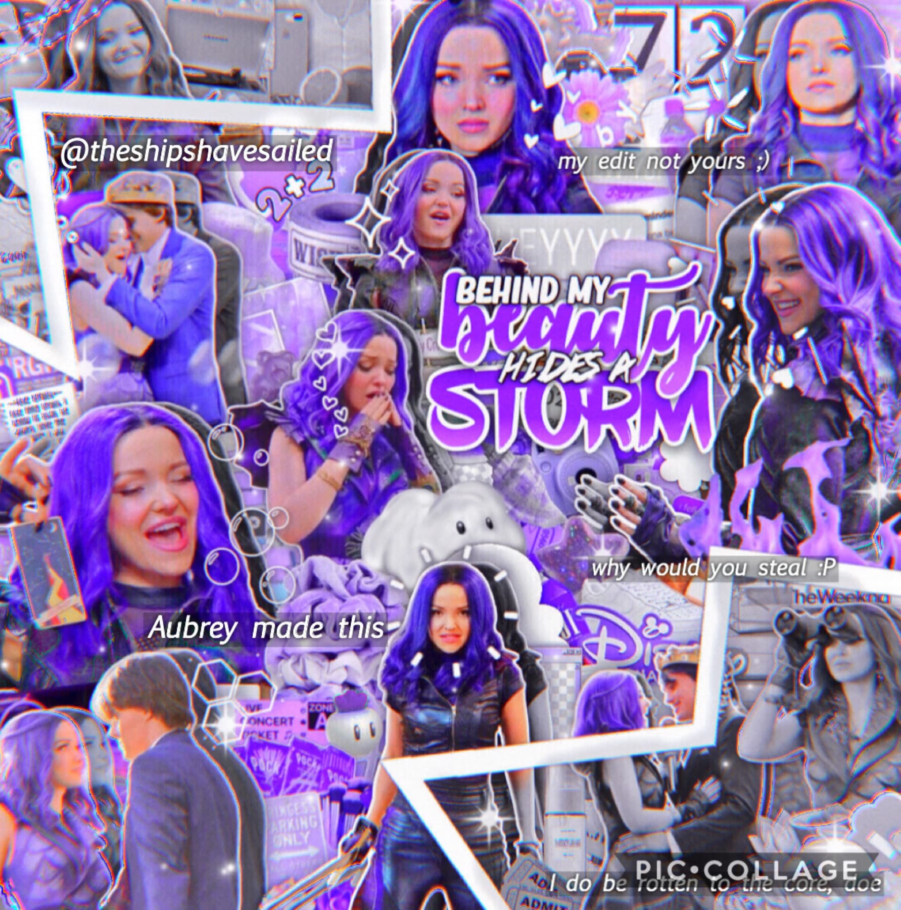 💜Mal from Descendants 3 edit!💜 🖤Made on PicsArt! Hope y'all like!🖤