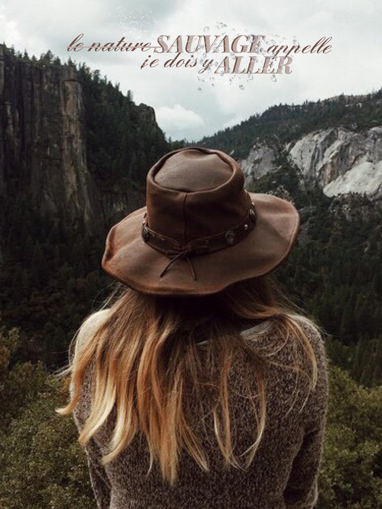I actually like this! This is French for 'the wild is calling me, I must go'