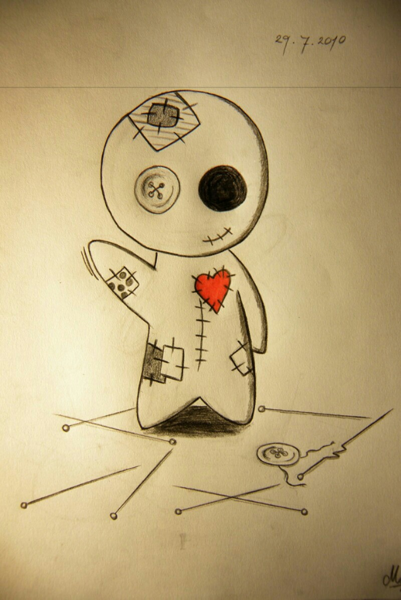 voodoo doll drawings - HD 774×1032
