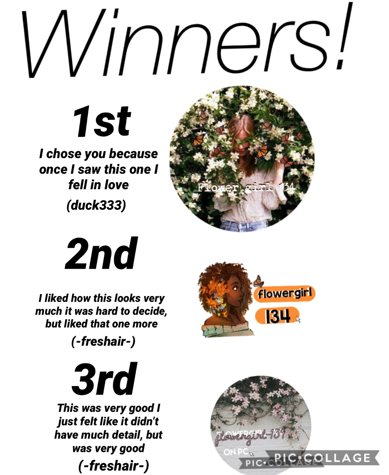 Winners listen up for your prizes on the next post! Thx for entering