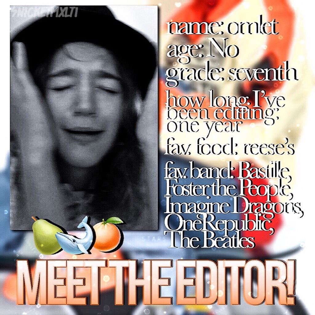 TAP!!!    Hi guys! I thought y'all should know a bit about me:) (also, omlet isn't my real name, but I can't share my real one online lol)   I have one more edit to post for this normal theme then I'll transition into holiday edits! Get excited:)