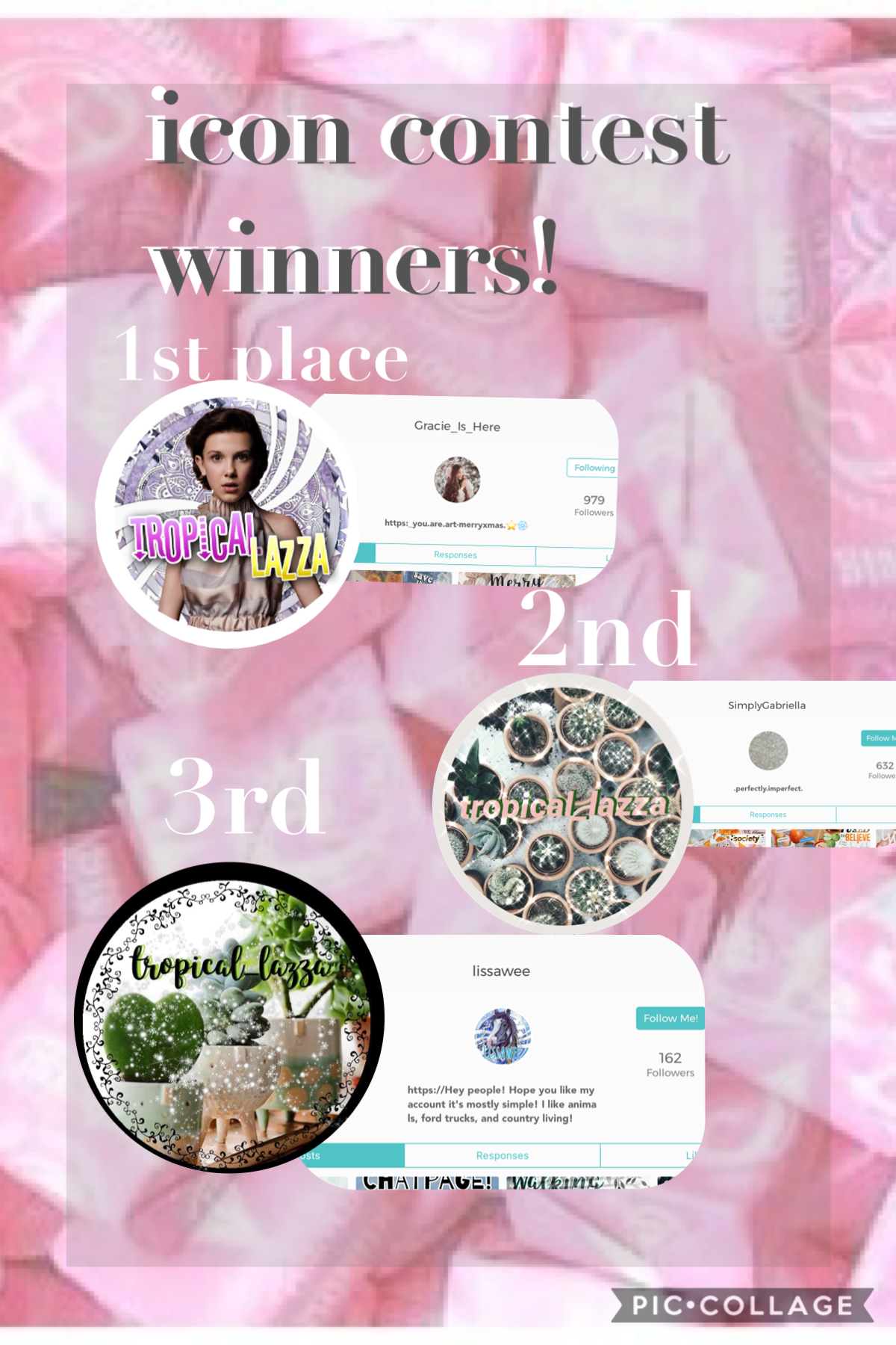 sorry for being unactive school holidays are soon so hopefully i will be more active during that time but congratulations to the winners!