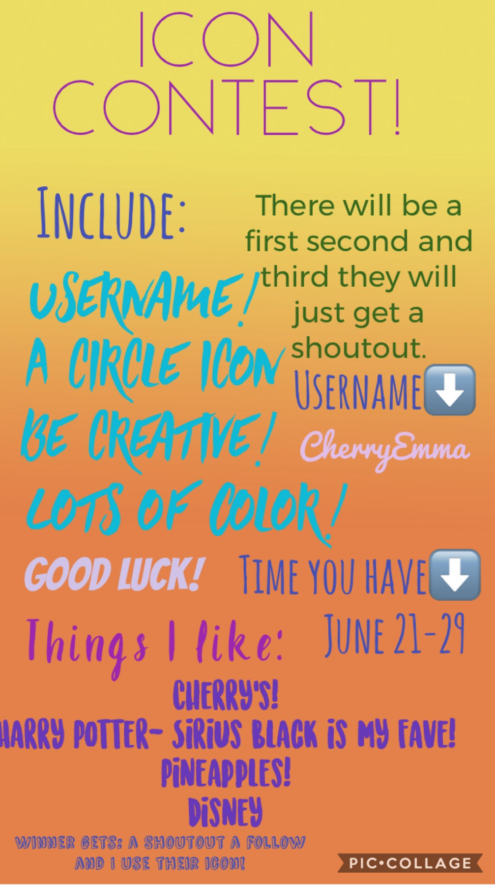 Tap! Join my icon contest! Have fun and good luck! Winner gets prize! (Small print at the bottom)-CherryEmma