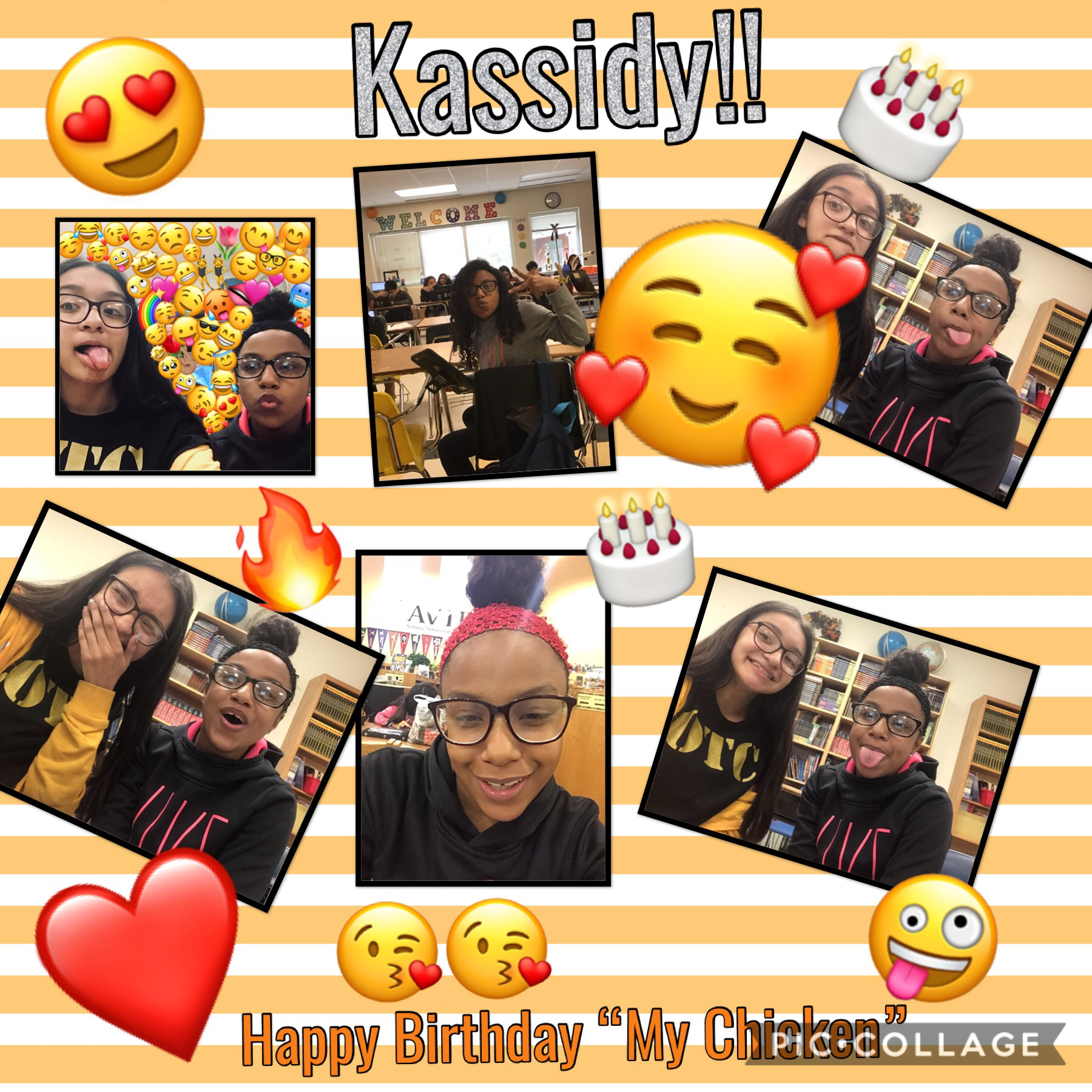 Happy birthday my chicken 🍗 luv you 😘❤️ 3/28/19