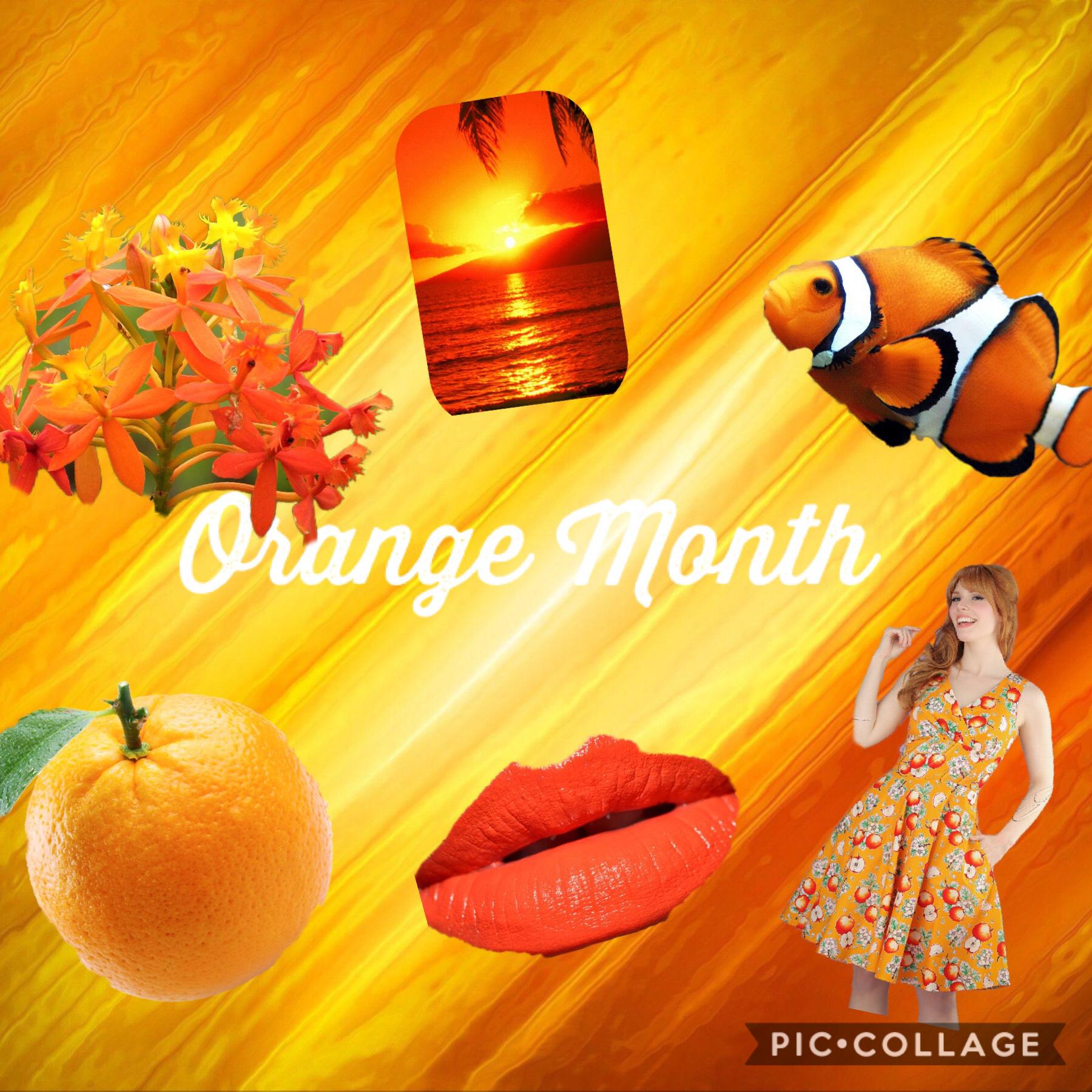 Orange Month Follow me on Pinterest @hgoodrichtx or Hanna