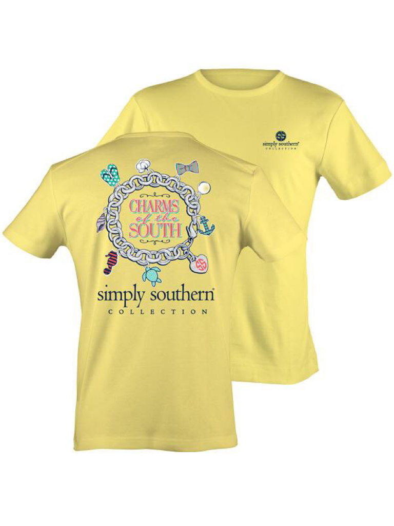 """Lemon """"Charms of the South"""" Simply Southern Tee"""