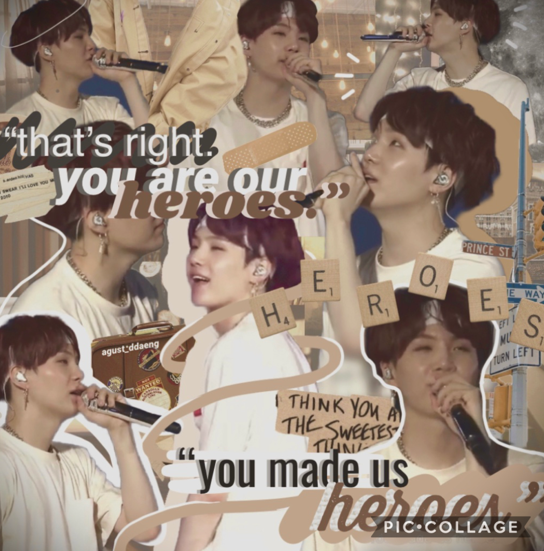 - 🕰 - [ 4 - 20 - 20 ]  ' you are our heroes '  PLEASE I LOVE HIM 🤎 he's so precious omg baby boy   auburn yoongi is starting to become one of my favorites  q&a answers coming soon! <3 ily guys sm please don't forget that 🥺🤎  august💫  -🕰-