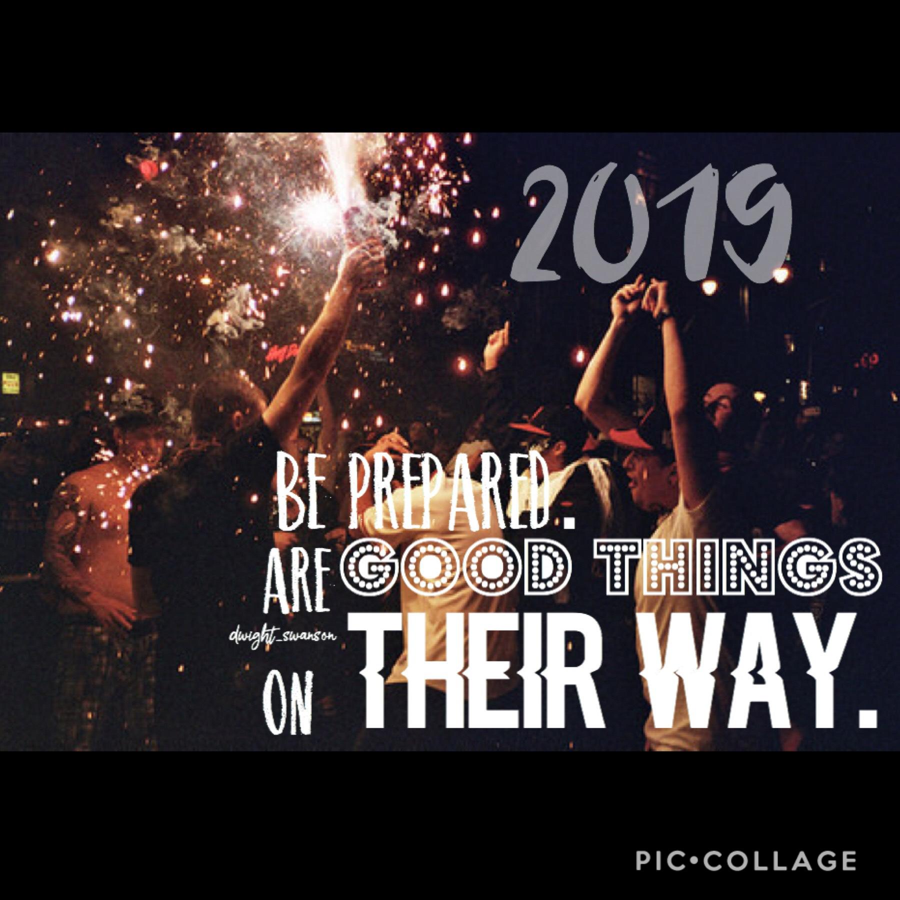 goodbye 2018 😭 hello 2019 🎊