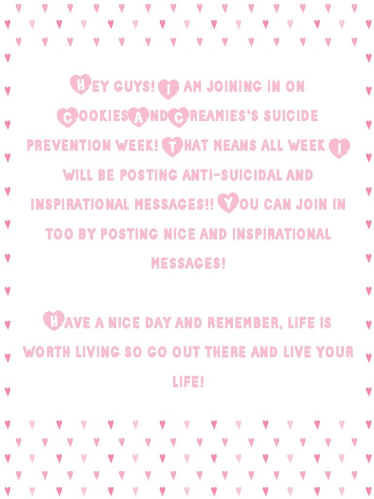 Suicide Prevention Week!!!