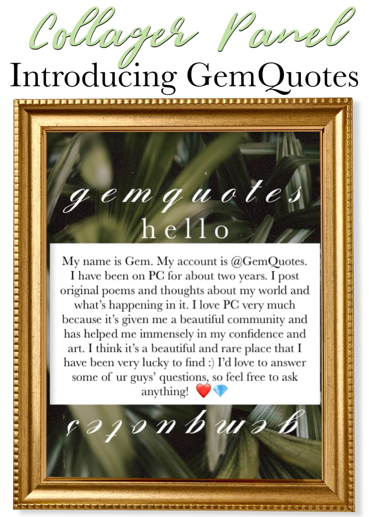 Introducing GemQuotes! Welcome to the Panel!
