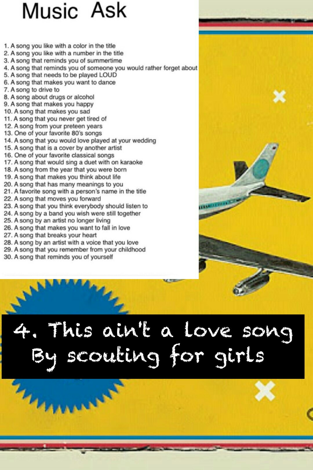 4. This ain't a love song By scouting for girls