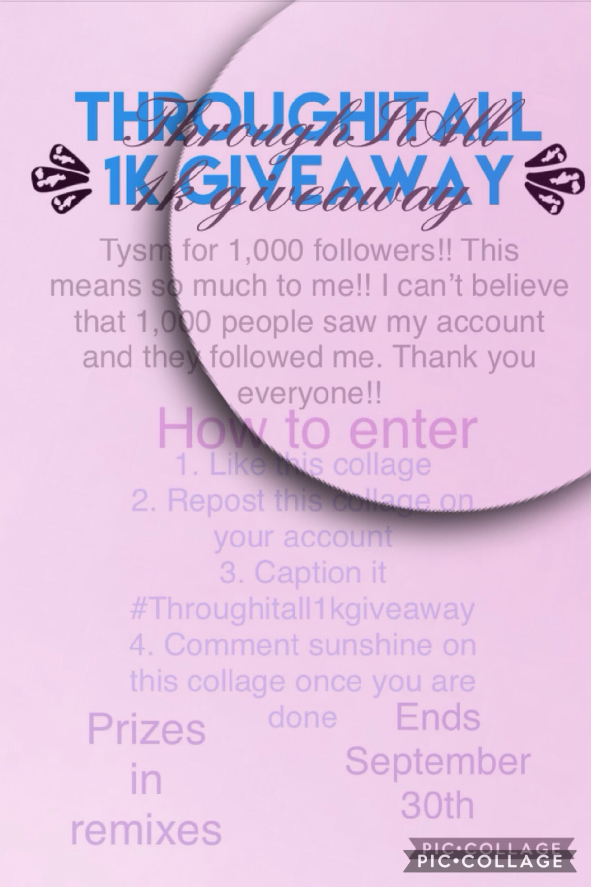 #throughitall1kgiveaway