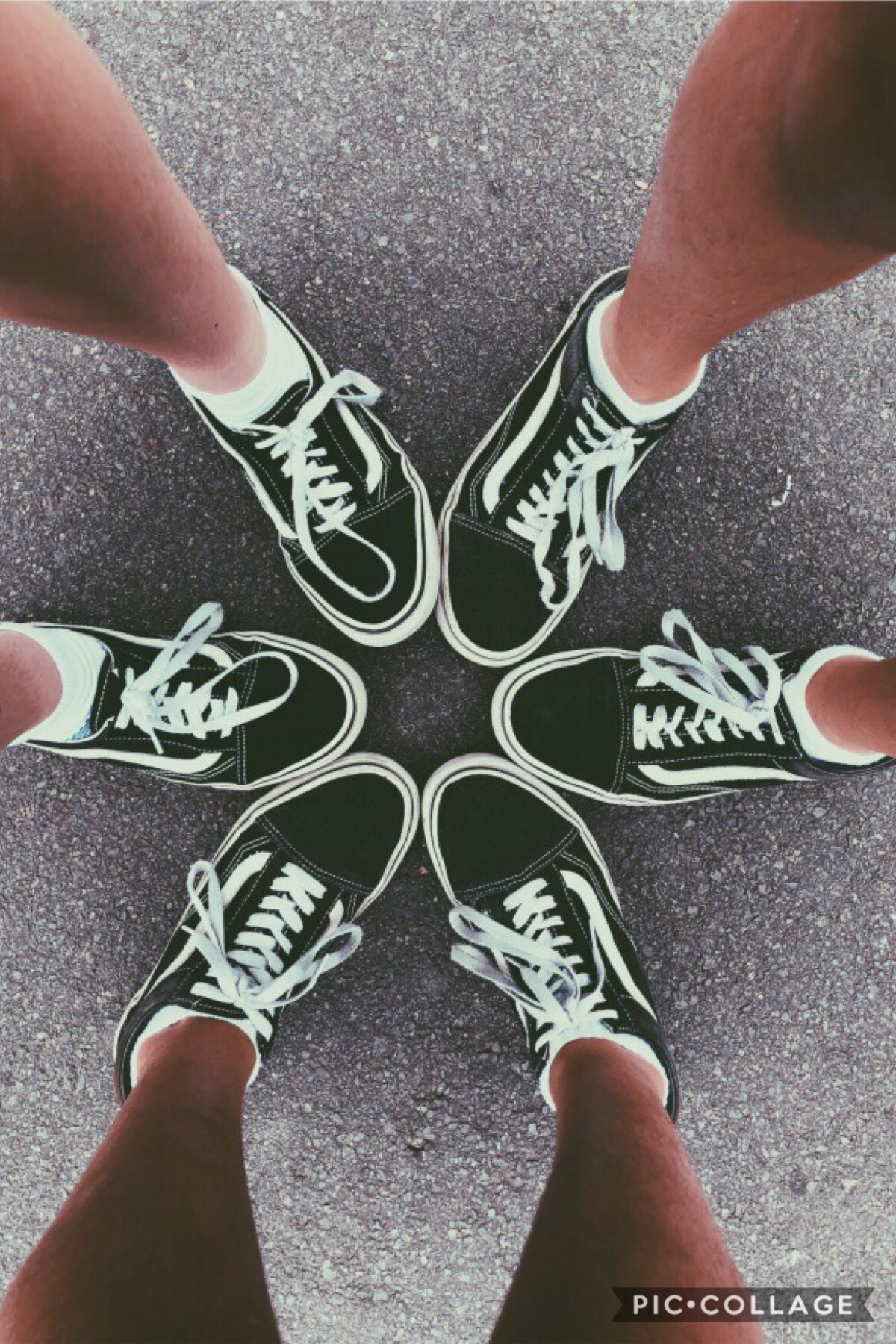 Picture #2! This wasn't taken by me, but one of my best friends with our awesome shoeeess 😂 I'm the one closest to the top left corner :p and if you know who I am- please don't make it obvious! 😉😉😉