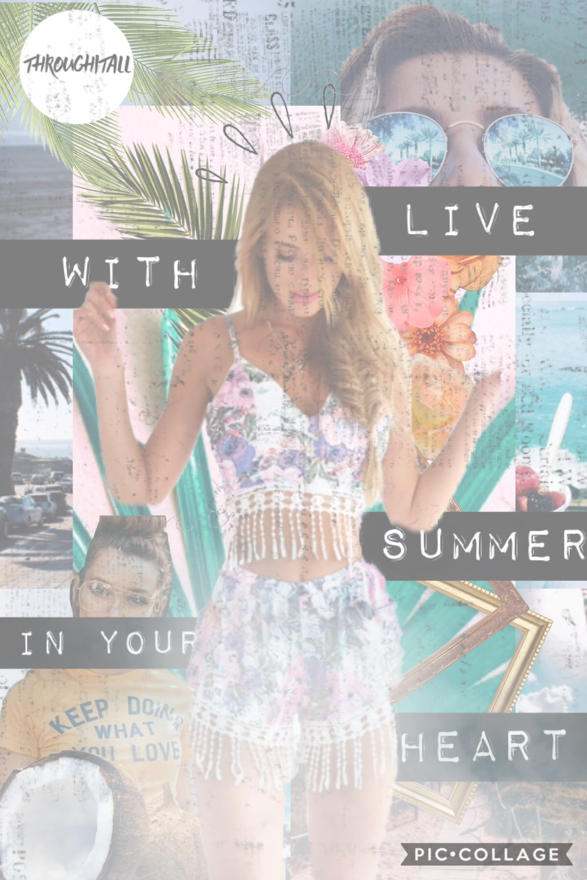 Tap Ahhh finally a summer themed collage 🏝