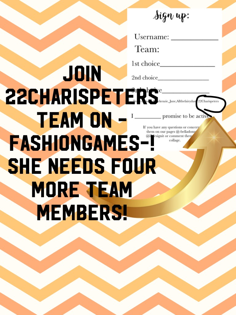 Join 22charispeters team on -fashiongames-! She needs four more team members!