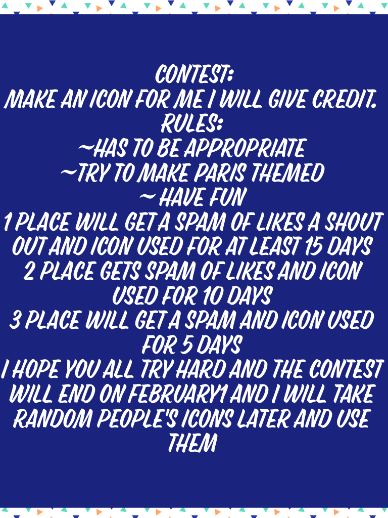 Thank you to all the people who enter and good luck