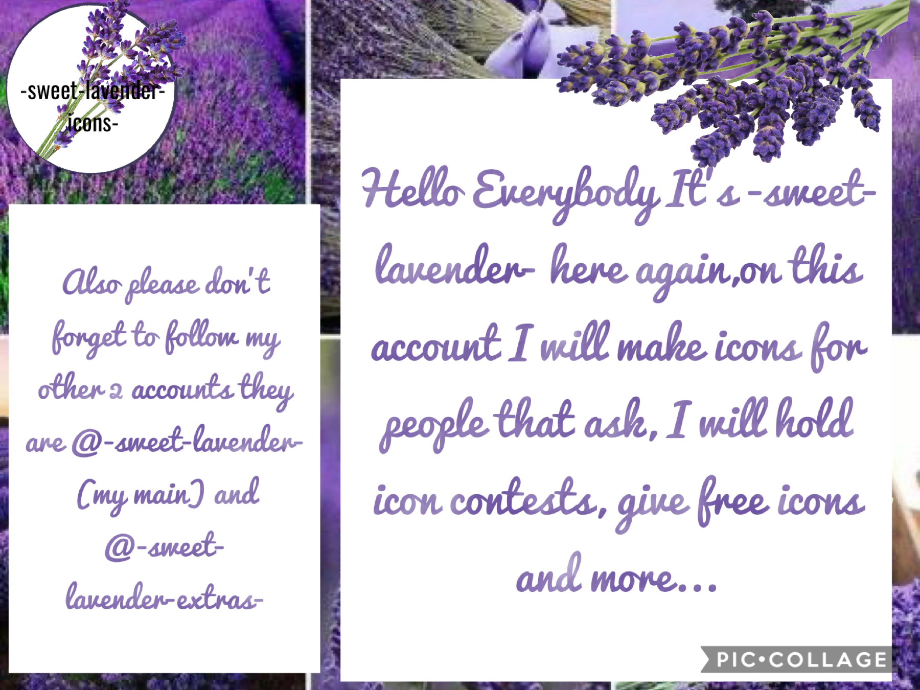 Jan 6,2021 tap🟣⚪️⬇️ This is my icons acc. Pls follow.  Main:@-sweet-lavender- Extras:@-sweet-lavender-extras- Thank you!😁 See you all soon!♥️