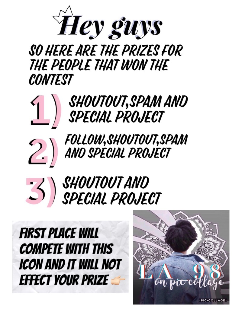 Important ❗️❗️ The competition is for the winner to be my permanent icon (all 4 will get a shoutout)