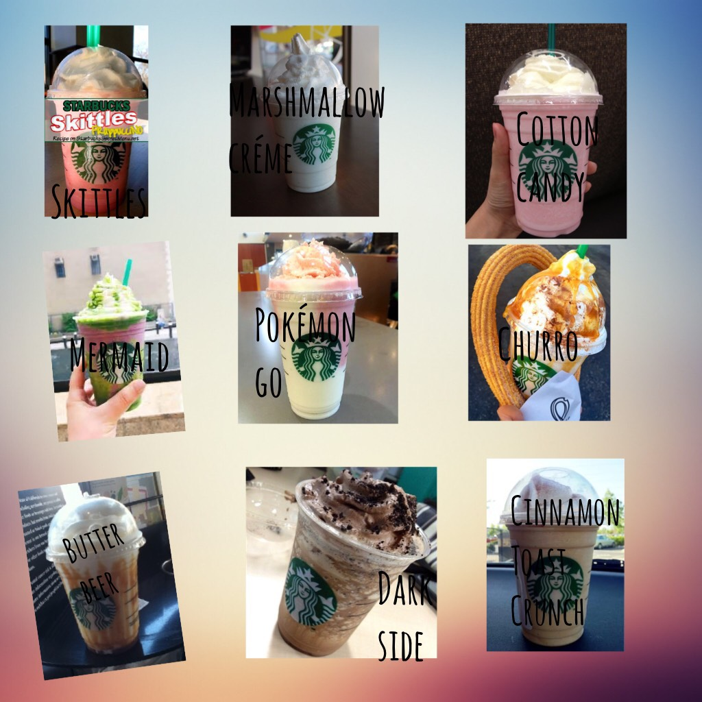 OMG I've had all of these and they are amazing! Starbucks secret menu baby!