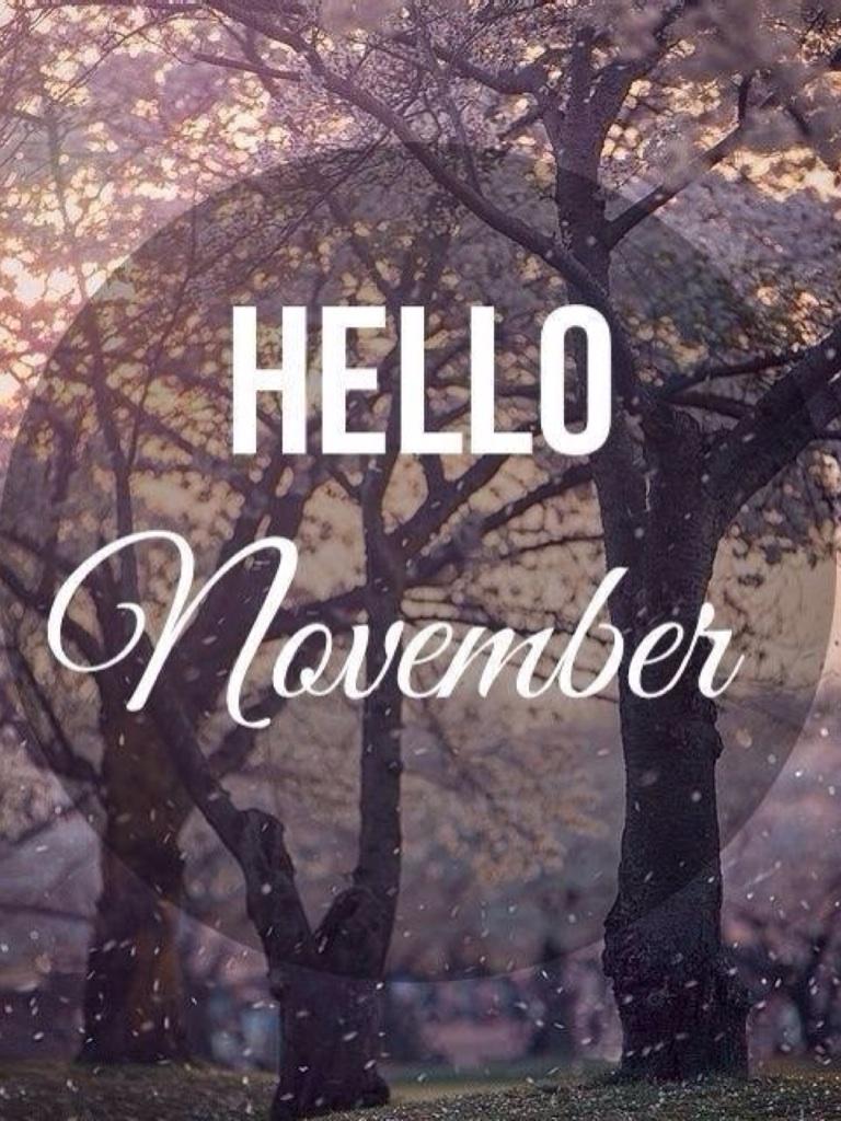 Ноябрь надпись на картинке