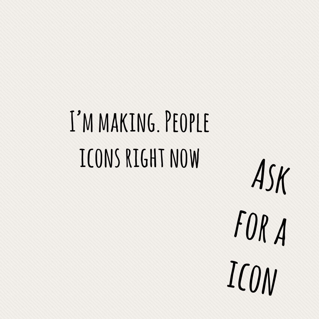 Ask for a icon