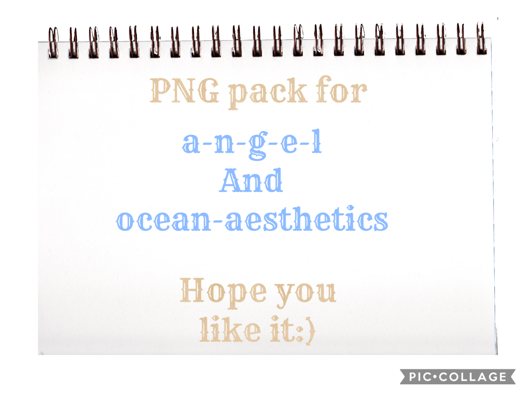 PNG pack for angel and ocean-aesthetics hope you guys like it!
