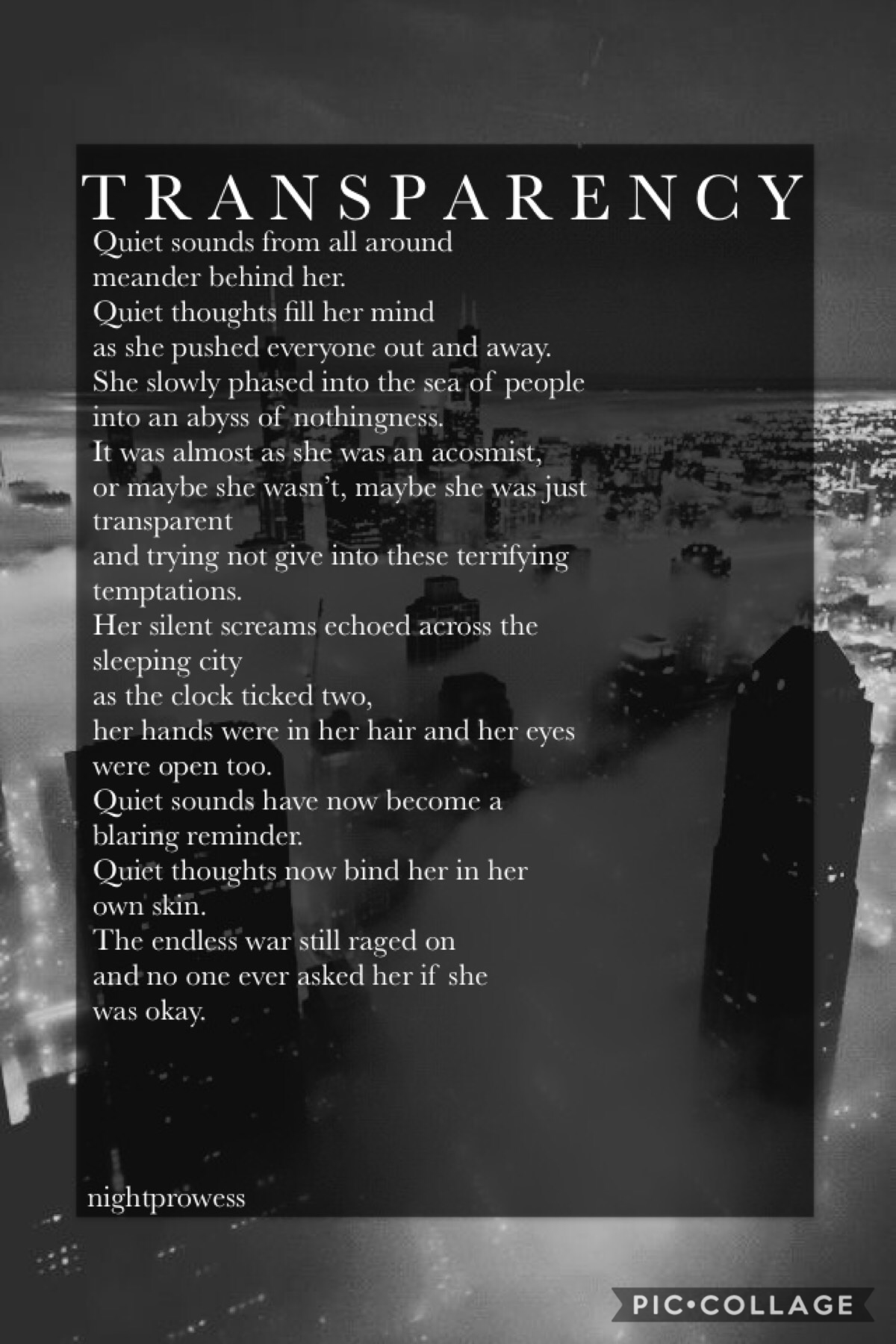 🖤Tap🖤 I might take a mental health break soon. I'm just not doing great and I don't really feel like my place is on PC anymore. I'm not sure if I'll even return after my break. I'm just really done with everything. Sorry for the awful poem.