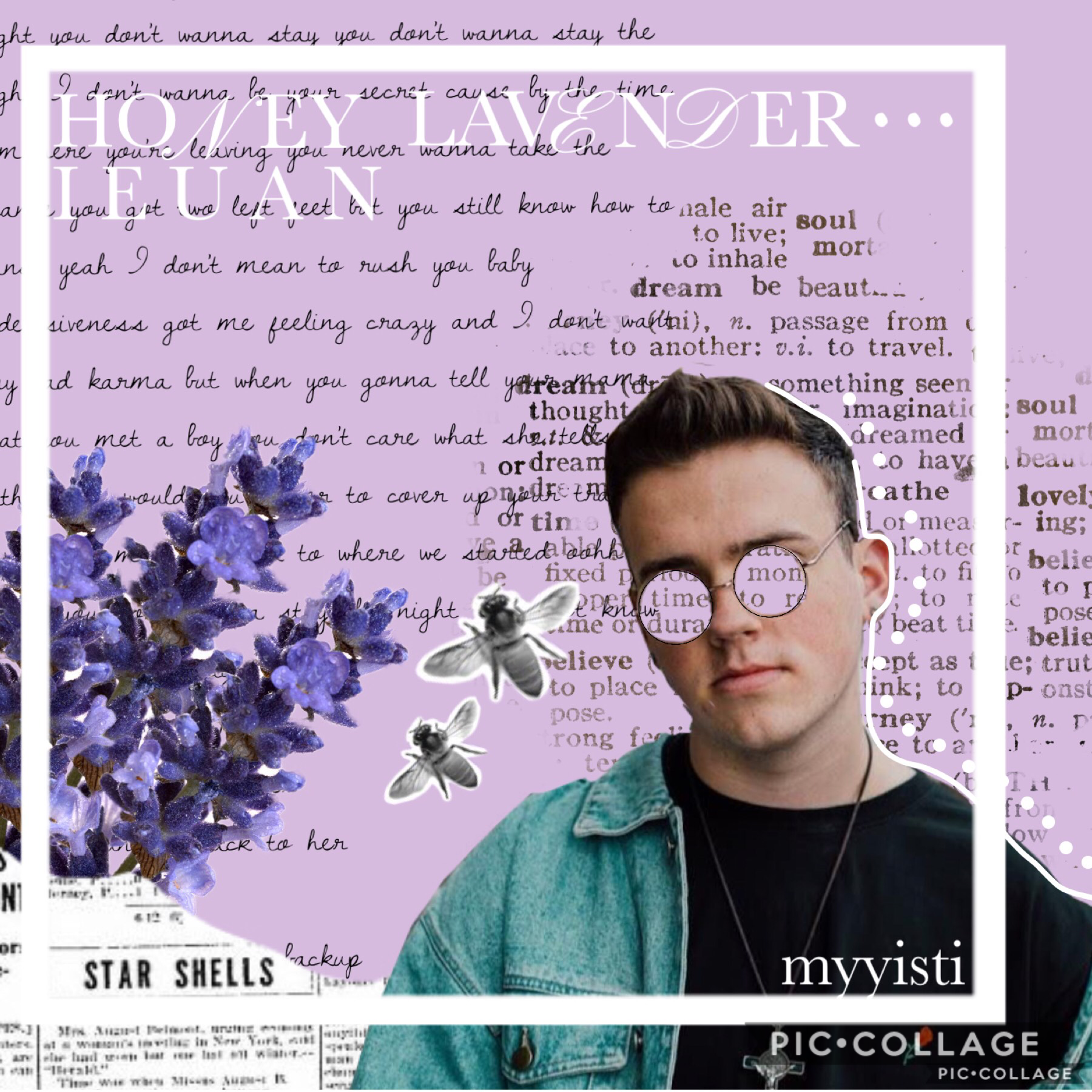 ieuan - honey lavender (tap here) I just love dis song sooo mucchhhh! but I didn't rlly try in dis collage :/