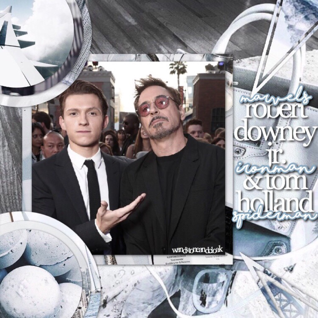 🦕click!:🦕 hey doods! heres my faves tom & rdj !! i cant wait for infinity war! i have like 3 collabs im working on so if i dont get urs done today thats why! q//who do you think will diè in infinity war? a//vision oof 😭😭