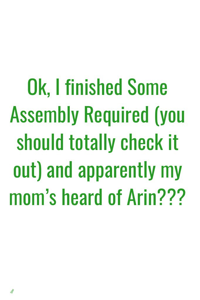 Arin's the author. It's like an autobiography type thing.