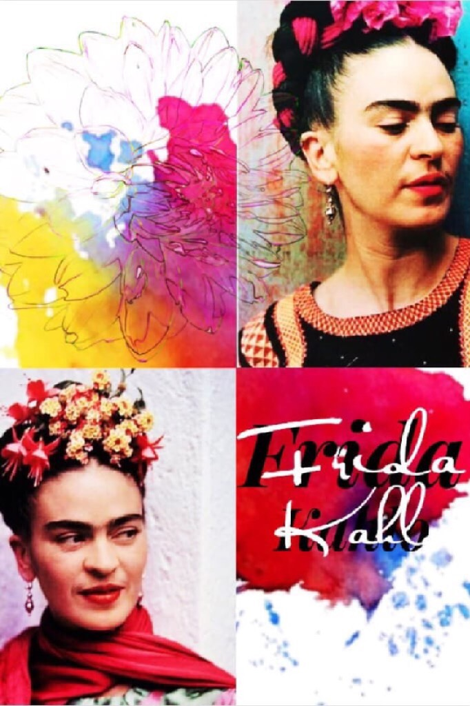 ❤️Tap❤️   Thank you PanicFan126 for this fantastic collab. This collage really captures the personality of my favourite artist Frida Kahlo.