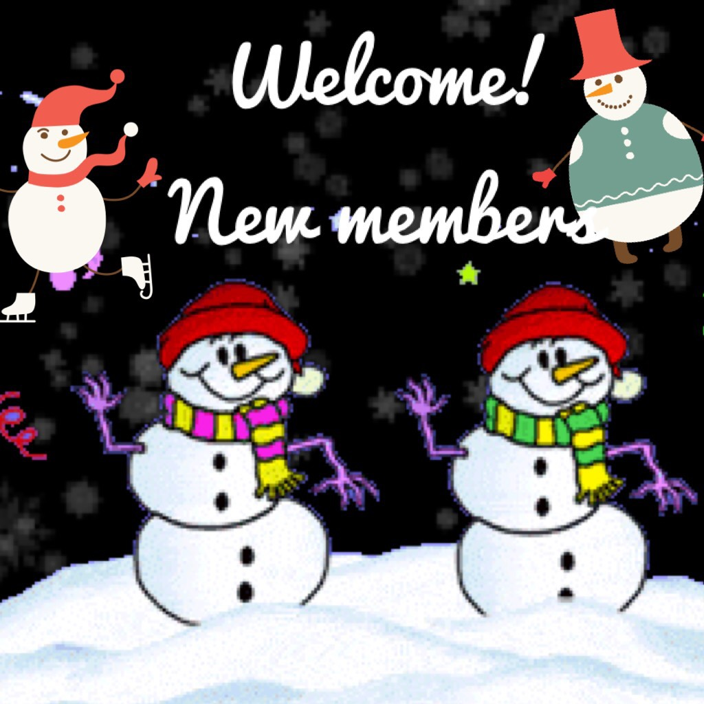 Welcome! New members
