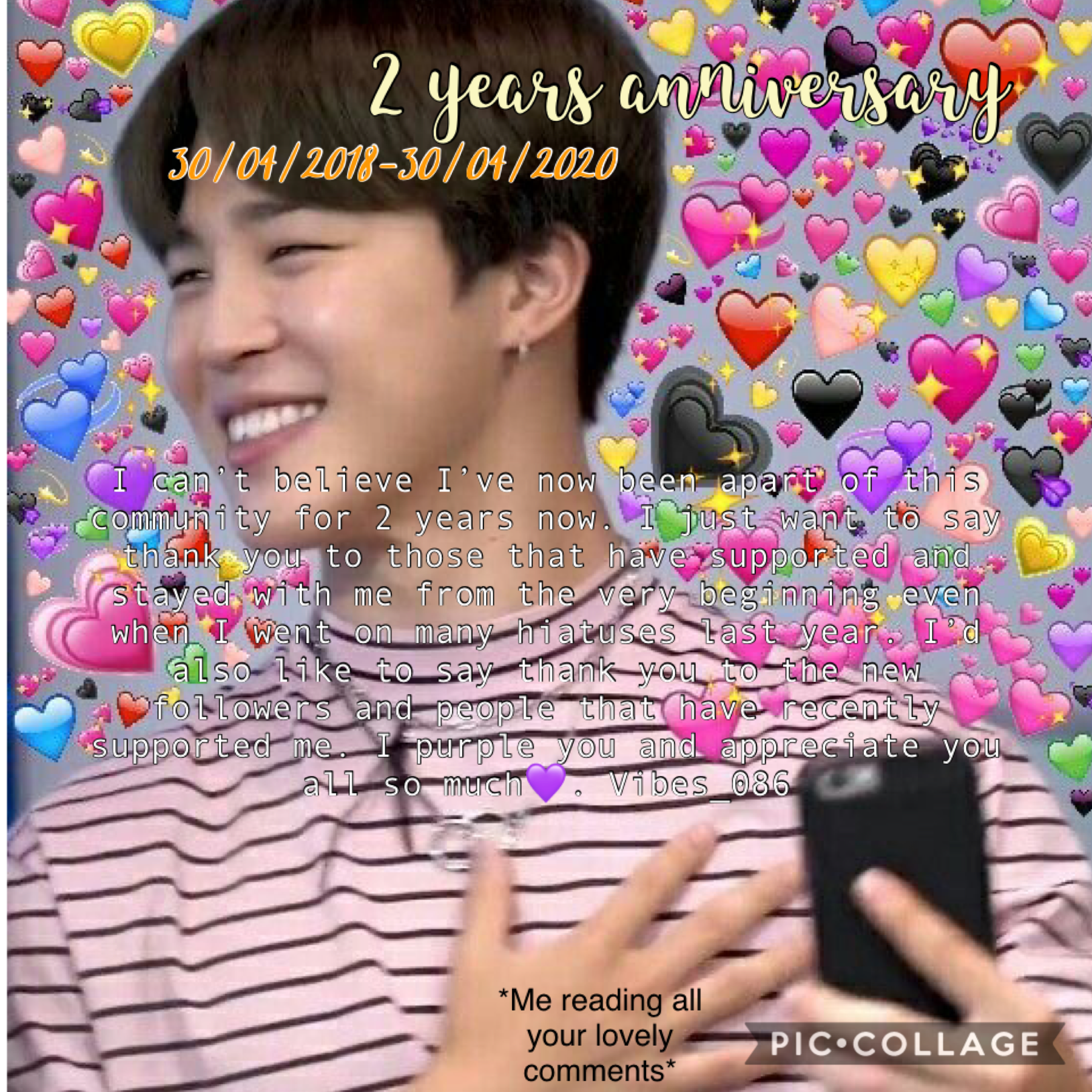 ~💜~ Thank you from the bottom of my heart for all the support over the last 2 years I appreciate you all so much 🥺💜