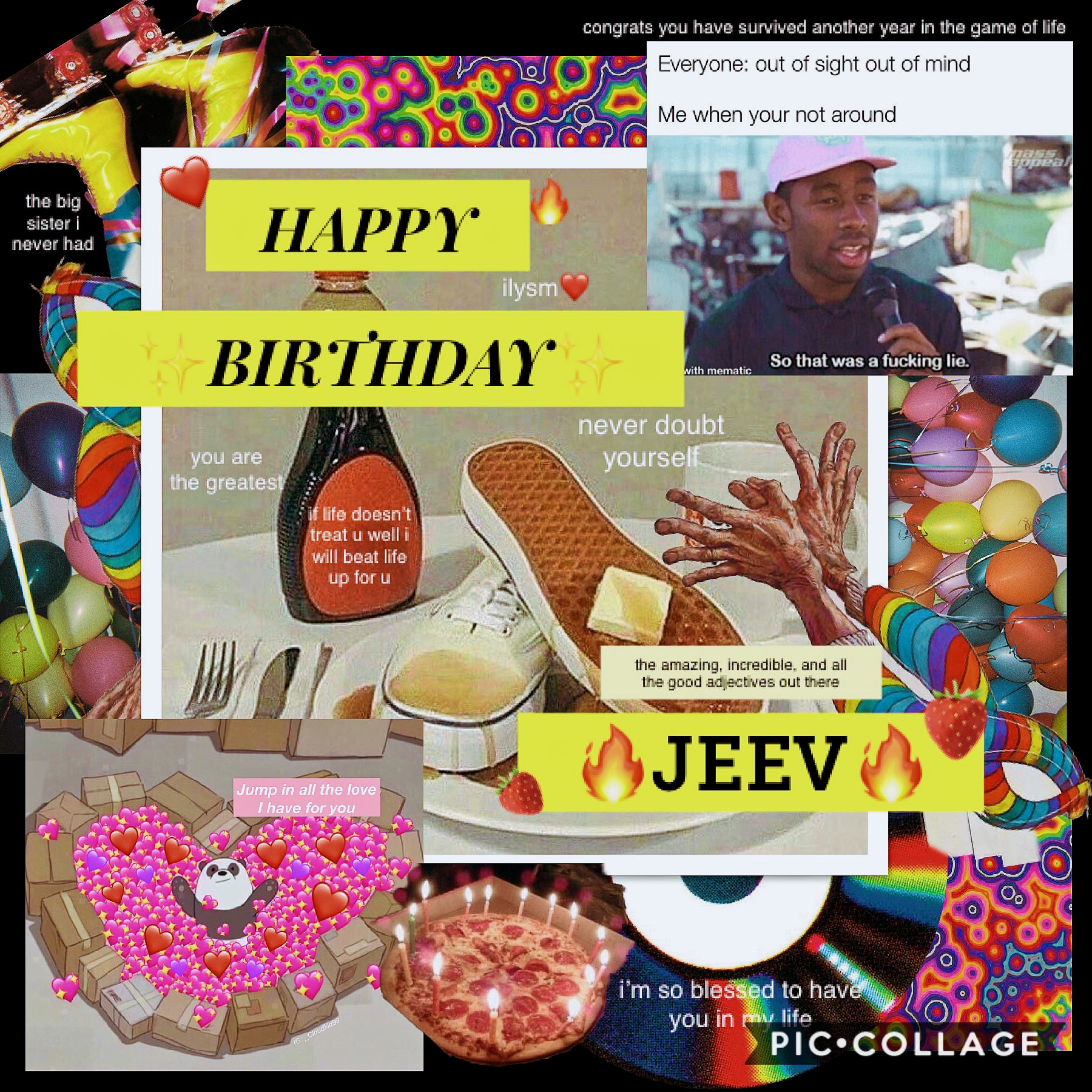 🍓😌to the legend that is jeev🙌🏽✨  wish her happy birthday or i'm setting you up with big ed   yes, the guy from 90 day fiancé   yes, the guy who puts mayo in his hair  yes, you will wish her happy birthday