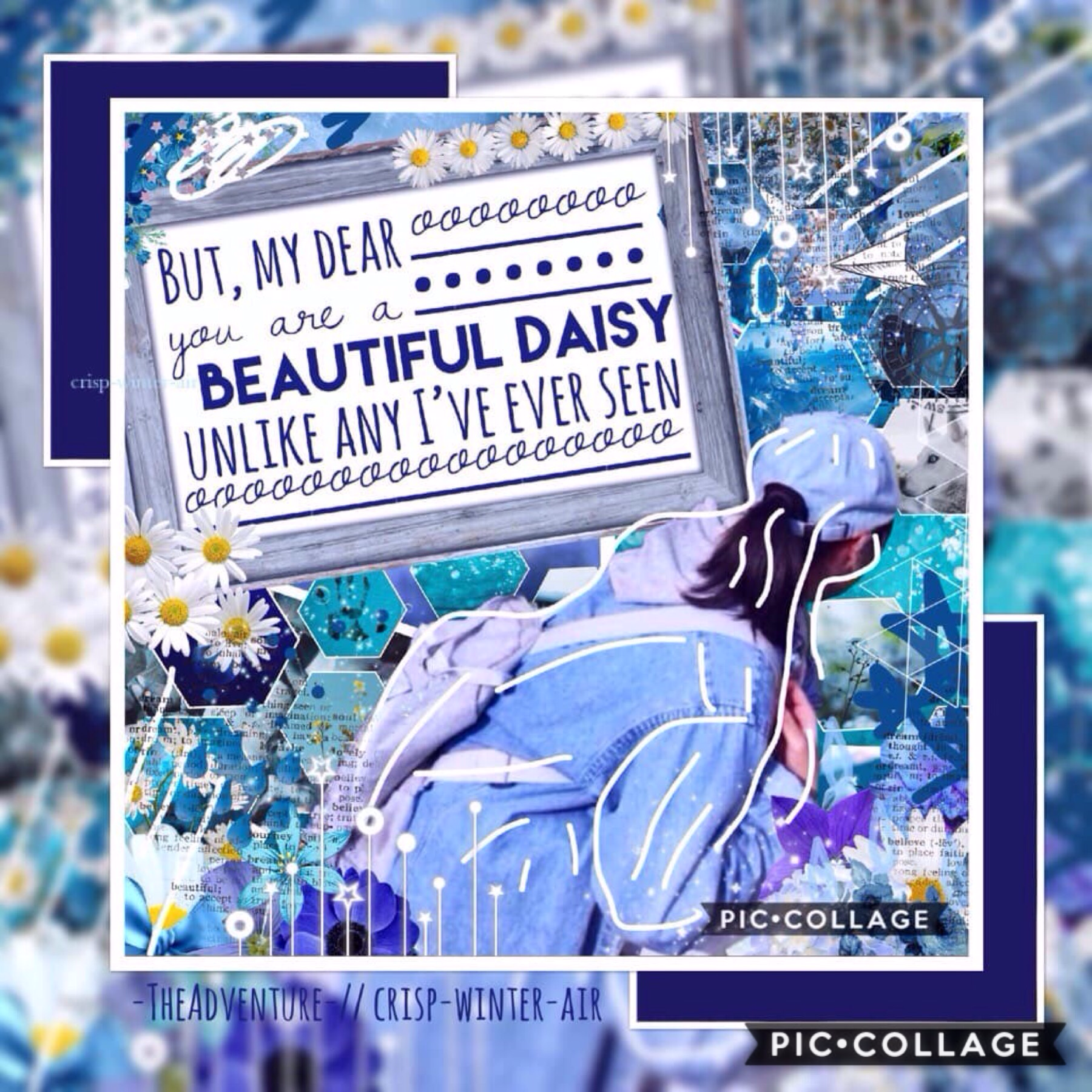 Collab with -TheAdventure-  I picked the quote and pic and she did the rest!  It turned out beautiful 💙