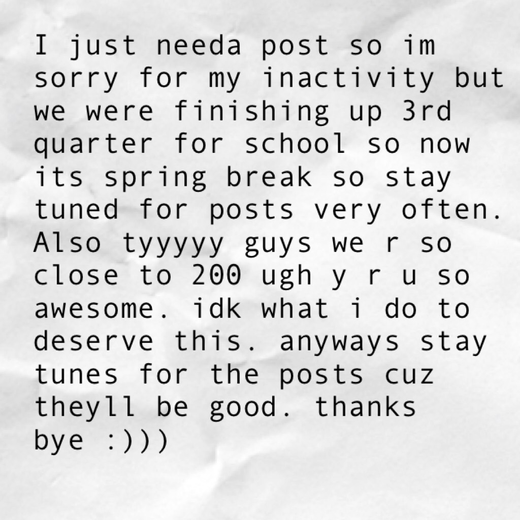 dont worry posts r comin :)))