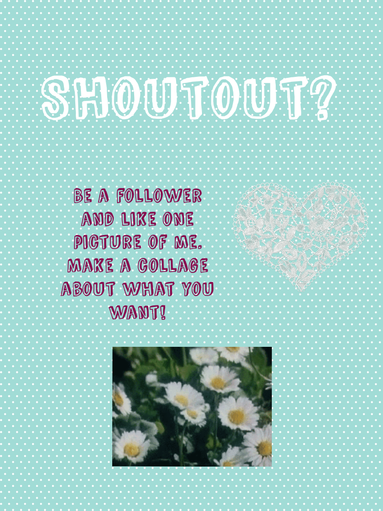 Do you want to have a shoutout?💕🎀
