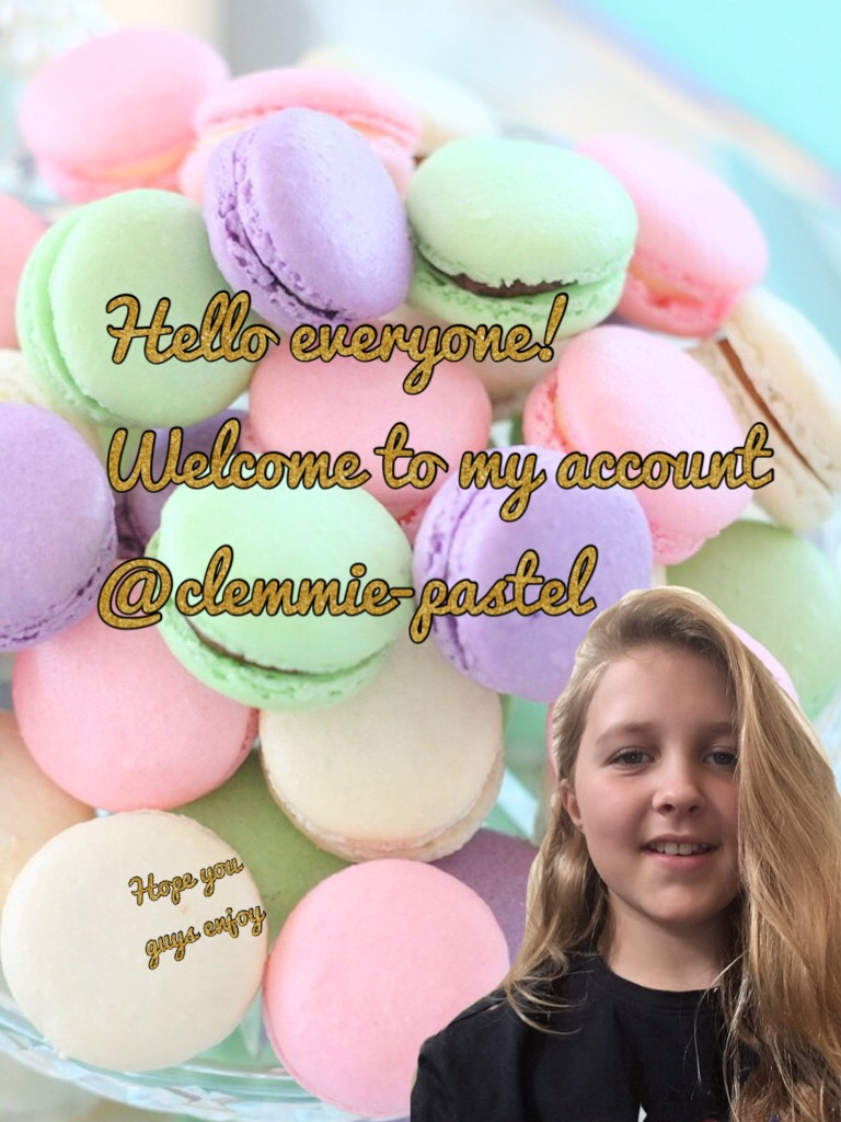 Hello everyone! Welcome to my account @clemmie-pastel Hope you guys enjoy And have a great day!