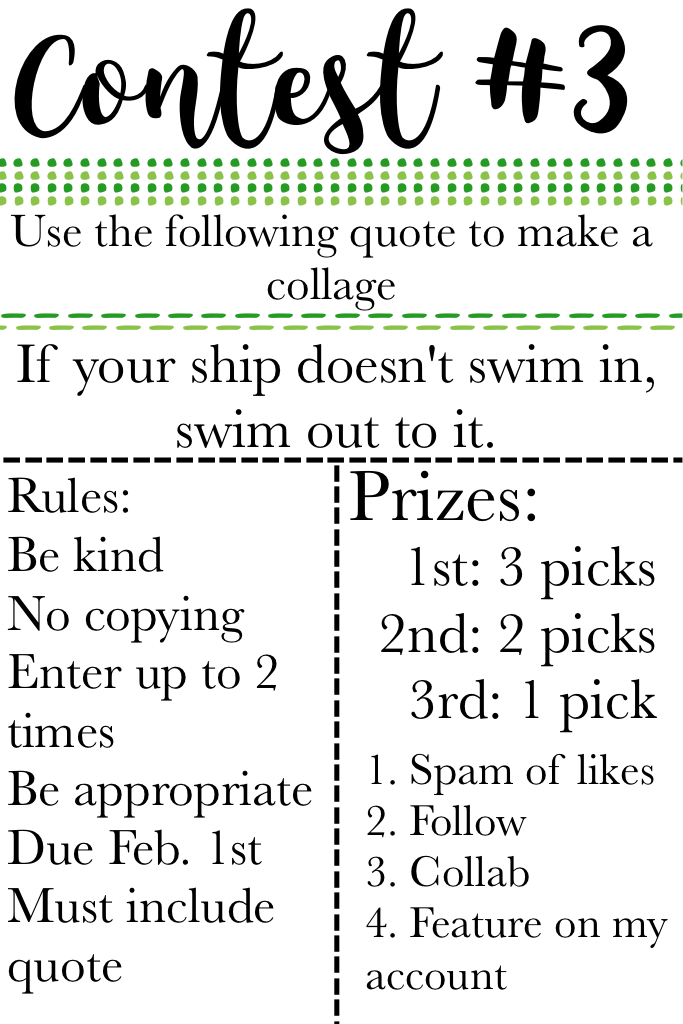Click Contest 3! Two more contests! Tell your friends! Tell everyone!