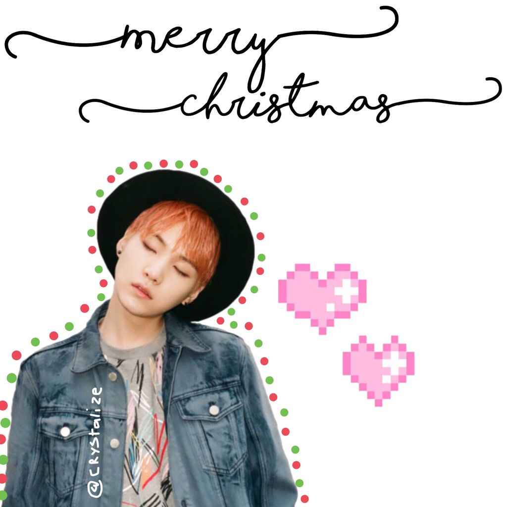 🎄TAPPPPP🎄 MERRY CHRISTMAS!!! Firstly isn't yoongi (suga) the cutest person alive!! 💕 Secondly I'm going to start posting regularly!!! :)  - Crystalize ✨