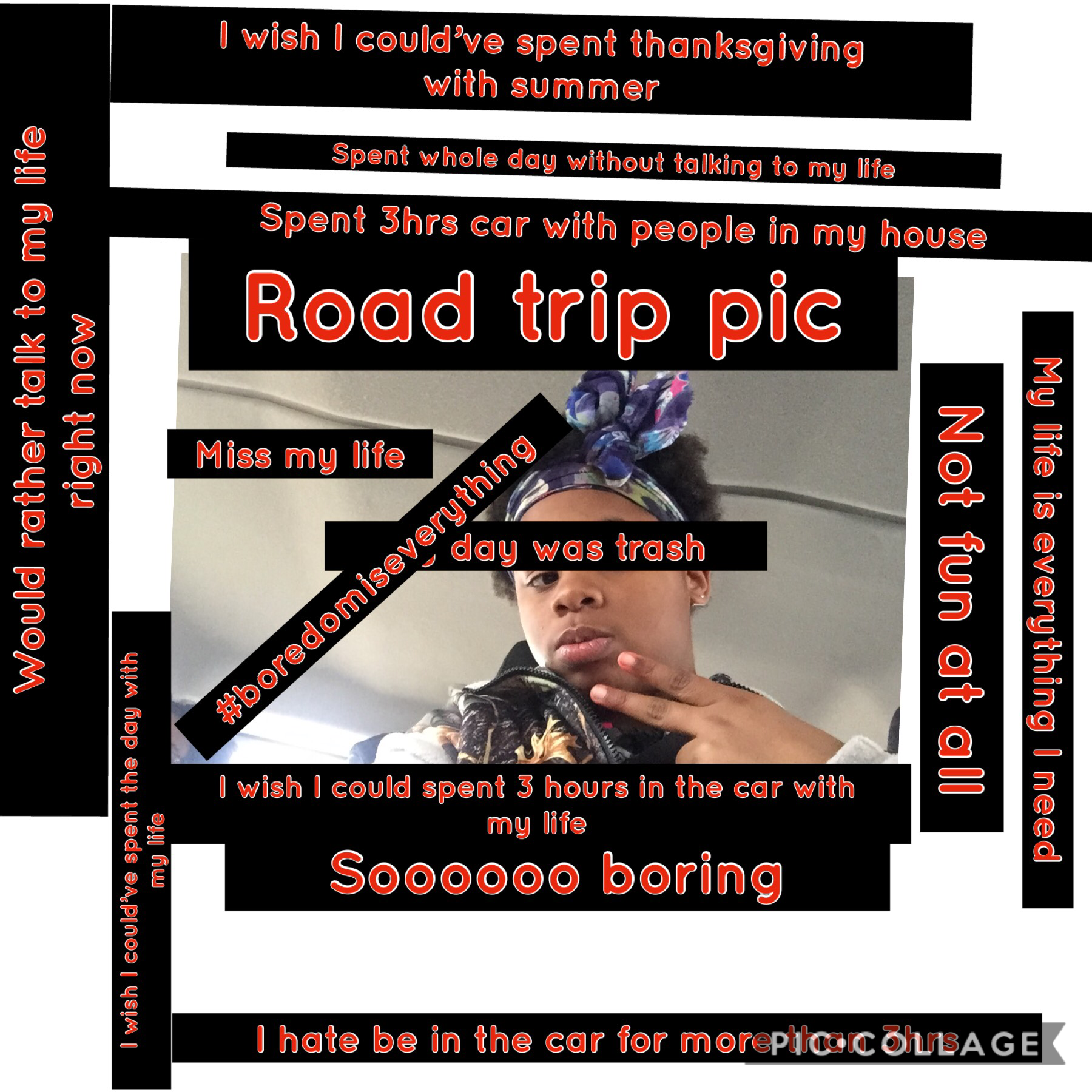 My road trip On thanksgiving  Sooooooooooooooooooooooooooooooooooooooooooooooooooooo boring