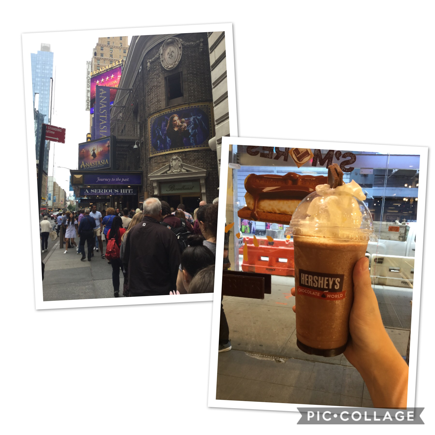 My day today was great... Broadway and frozen hot chocolate