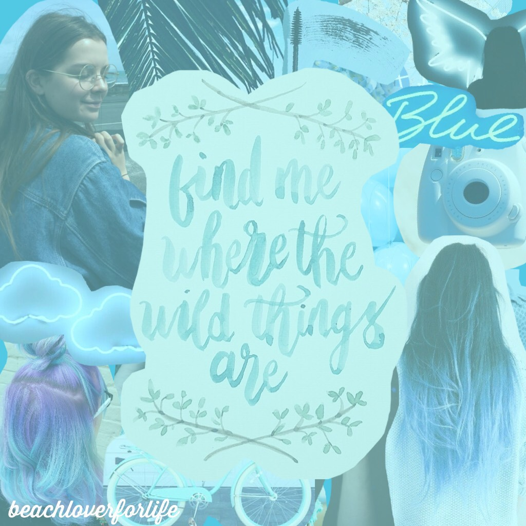 Everything is blue!!😂💙💦🐳🐬Sorry, I had to post this again because the background was really weird!😂