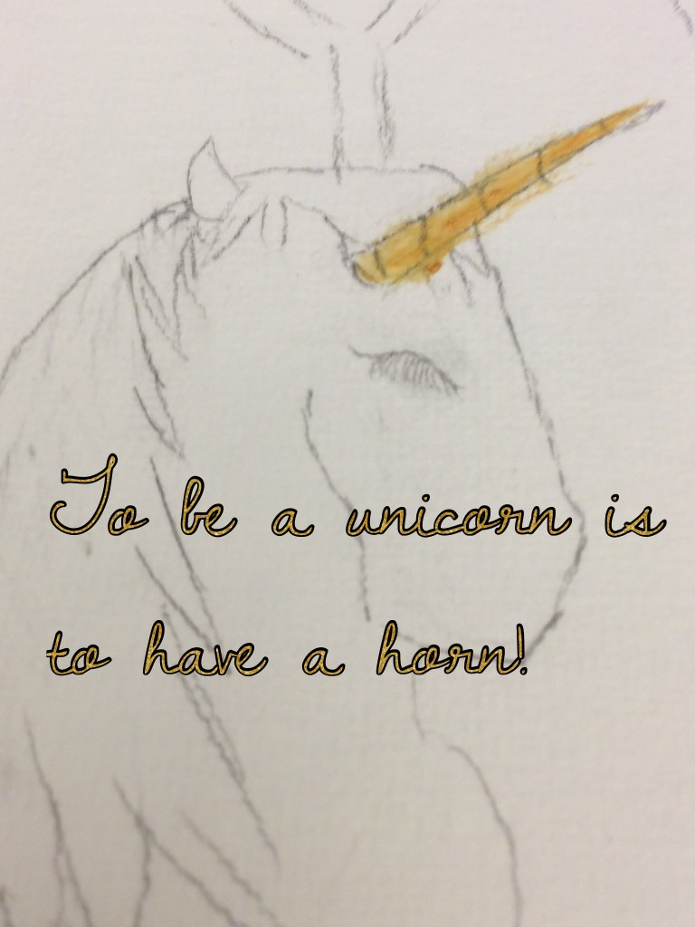 To be a unicorn is to have a horn!