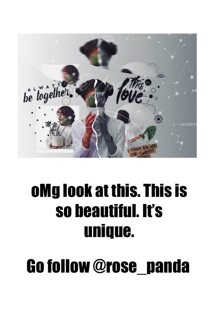 Go follow @rose_panda rn!! 💕