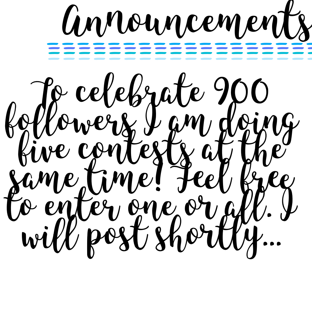 Click Please enter contests when they come out!