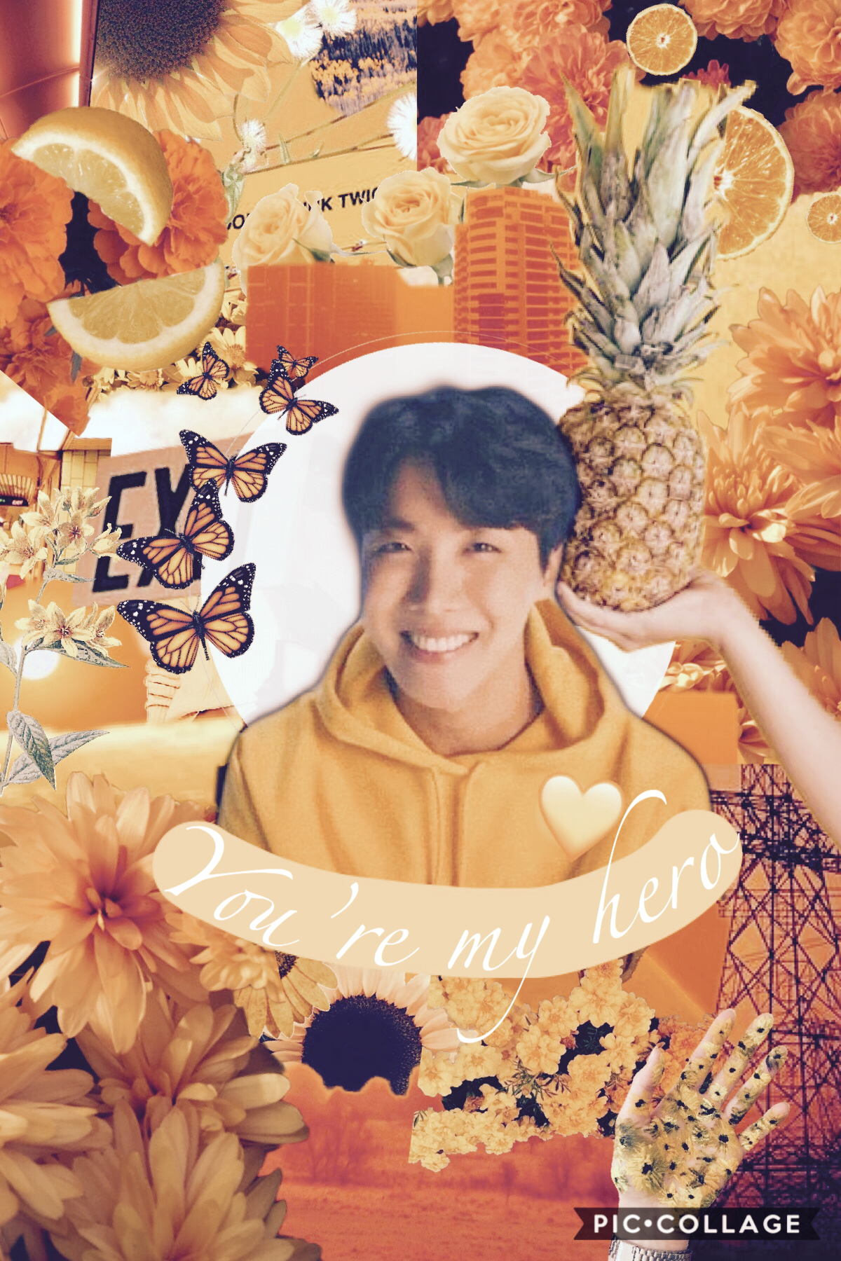 💛 HAPPY JHOPE DAY💛  Happy Birthday our Sunshine I hope you never stop smiling and bringing joy to this world 🥰  —> I'm your hero! <— —> you're my hero! <—