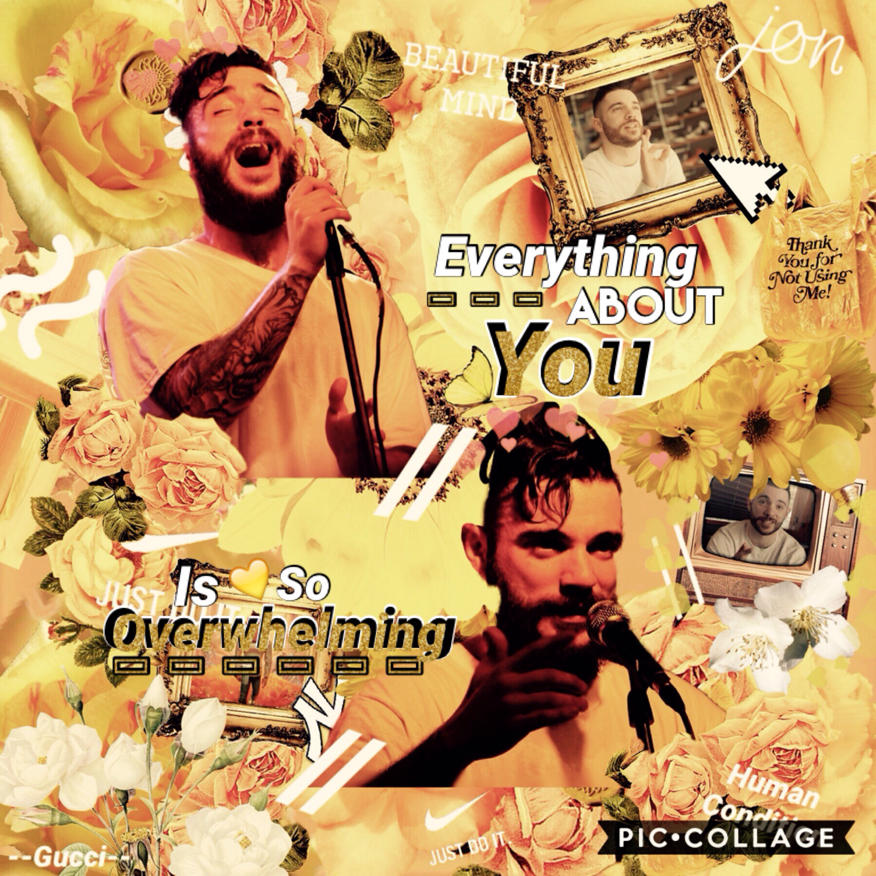 Tap Randomly found this while looking through my edits. I remember taking hours to do this with only PC. I absolutely love Jon Bellion and I wonder why I never posted this. {Have a great day y'all}