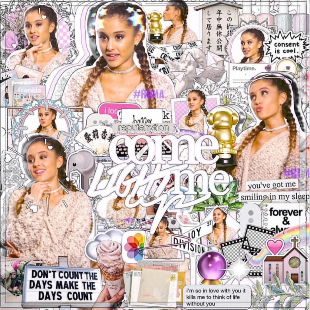 T a p 💓 Oh. My. Gawdd  Is it even possible for Ariana to get prettier?!😻 Q: what's your favourite subject at school?✏️📚 A: Probably English or geography🌏
